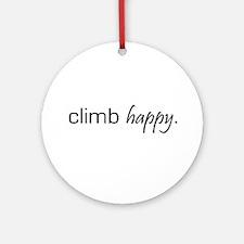 Climb Happy Ornament (Round)