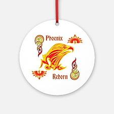 Phoenix Reborn Round Ornament