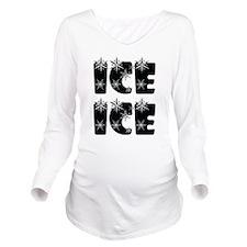 Ice Ice Baby Long Sleeve Maternity T-Shirt