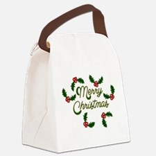 Christmas Greeting - v2 Canvas Lunch Bag