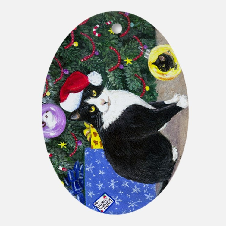 Cat Oval Ornament Ornament (Oval)