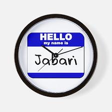 hello my name is jabari  Wall Clock