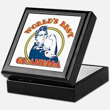 Rosie Riveter Best Grandma Keepsake Box