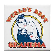 Rosie Riveter Best Grandma Tile Coaster