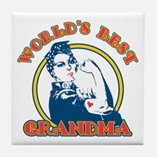 Rosie Riveter Best Grandma Tile Coaster