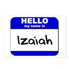 hello my name is izaiah  Postcards (Package of 8)