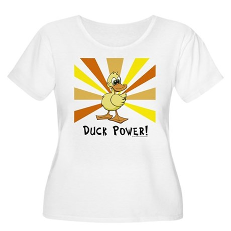 Duck Power Women's Plus Size Scoop Neck T-Shirt