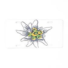 Unique Floral botanical Aluminum License Plate