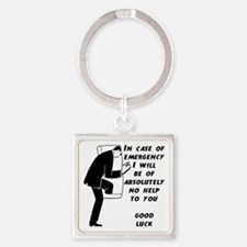 Emergency Assistance Square Keychain