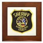 Stanislaus County Sheriff Framed Tile