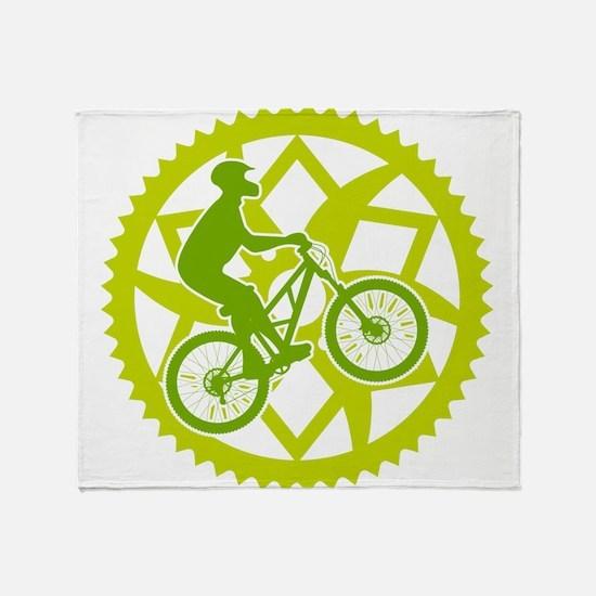 Unique Mountain biking Throw Blanket