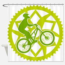 Cute Mountain bike Shower Curtain