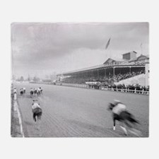 Horse Race in New Orleans, 1906 Throw Blanket