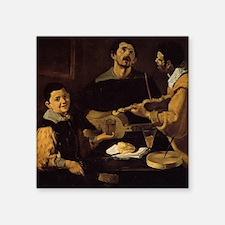 "Velazquez - Three Musicians Square Sticker 3"" x 3"""