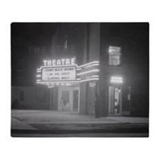 Movie Theater at Night, 1941 Throw Blanket