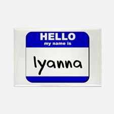 hello my name is iyanna Rectangle Magnet