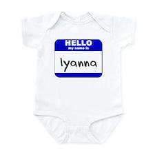 hello my name is iyanna  Infant Bodysuit