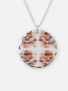 skull & crossbones brickwall Necklace