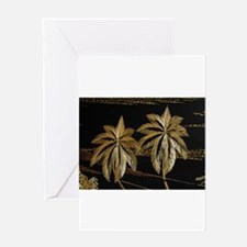 Palms from straw Greeting Cards