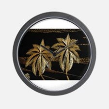 Palms from straw Wall Clock