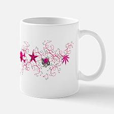 Pink Vine Collage Mug
