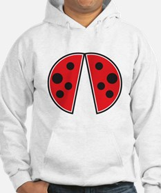 Cute red Ladybird wings Jumper Hoodie