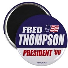 "Fred Thompson for President 2008 2.25"" Magnet (10"