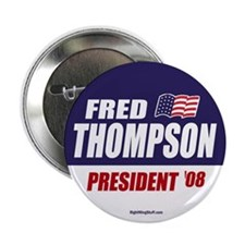 """Fred Thompson for President 2008 2.25"""" Button (10"""