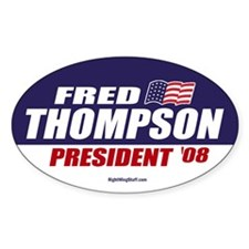 Fred Thompson for President 2008 Oval Decal