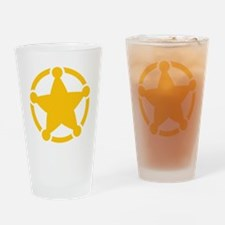 Cute Sheriff Badge Drinking Glass