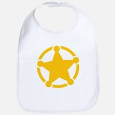 Cute Sheriff Badge Bib