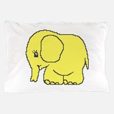 Funny cross-stitch yellow elephant Pillow Case