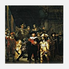 Rembrandt - The Nightwatch, 1642 pain Tile Coaster