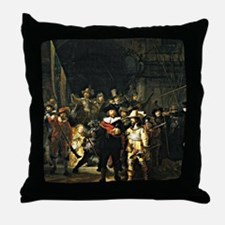 Rembrandt - The Nightwatch, 1642 pain Throw Pillow