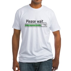 Please Wait Fitted T-Shirt