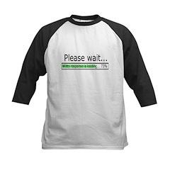 Please Wait Kids Baseball Jersey