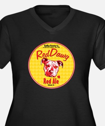 Red Nose Red Women's Plus Size V-Neck Dark T-Shirt