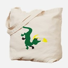 Dragon down with a puff of smoke Tote Bag