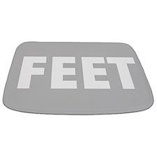 Grey Feet Bathmat