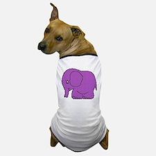 Funny cross-stitch purple elephant Dog T-Shirt