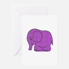 Funny cross-stitch purple elephant Greeting Card