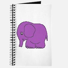 Funny cross-stitch purple elephant Journal