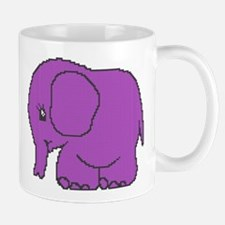 Funny cross-stitch purple elephant Mug
