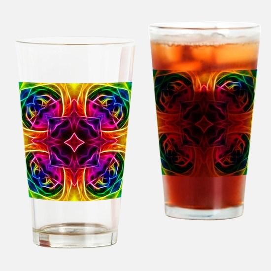 Rainbow Rose Kaleidoscope Drinking Glass