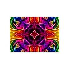 Rainbow Rose Kaleidoscope 5'x7'Area Rug
