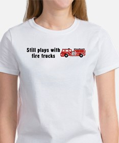 Still plays with fire trucks Women's T-Shirt