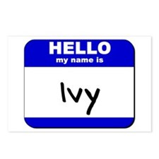 hello my name is ivy  Postcards (Package of 8)