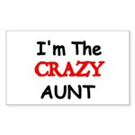 Im the CRAZY AUNT 4 Sticker
