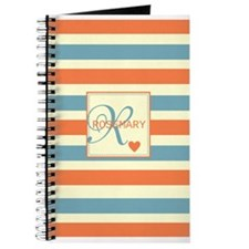Bold Stripe & Monogram Personalized Journal