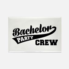 Bachelor Party Crew Rectangle Magnet